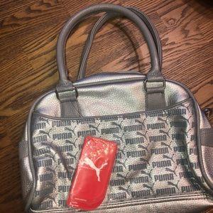 Nwt silver puma purse
